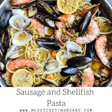 Seafood Pasta with Garlic Lemon Wine Sauce