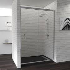 Раздвижная стеклянная <b>душевая дверь 140 см</b>