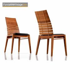 Scandinavian modern furniture Nordic Furnish Me Vintage High Back Teak Dining Chair Scandinavian Modern