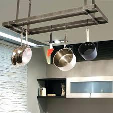 kitchen pot hangers hanging pot and pan rack hanging pot rack bakers rack with pot hanger