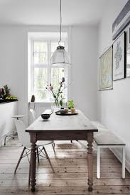 dining room table with bench against wall. Dining Room, Charming Narrow Room Tables Table With Bench Wooden Against Wall T