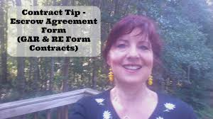 Contract Tip - The Escrow Agreement Form (Gar & Re Forms) - Youtube