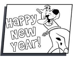 Scooby Doo Kleurplaat Gelukkig Nieuwjaar