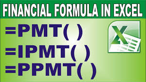 Finance Excel Functions Excel Financial Functions Pmt Ipmt Ppmt In Hindi Youtube