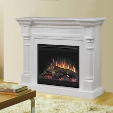 dimplex winston 52 inch electric fireplace mantel standard logs white dfp26