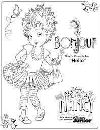 coloring pages fancy nancy coloring page activity disney family