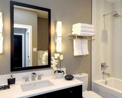 image of bathroom light fixtures over mirror