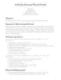 Auto Mechanic Resume Templates Amazing Auto Mechanic Resume Template Technician Sample For Vet Tech Samples