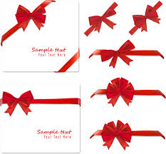 Red Ribbon Design Gift Card With Red Ribbons Design Vector Vector Misc Free