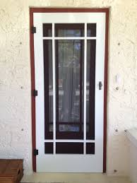 metal security screen door. Larson Storm Doors Self Storing Screen Door Home Security Wrought Iron Metal E