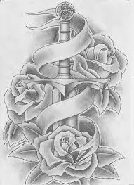 rose and ribbon tattoo designs. Heart And Sword Tattoos Roses Tattoo By Keepermilio Designs Interfaces Design Inside Rose Ribbon