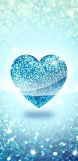 Cute Blue Heart Wallpaper Hd