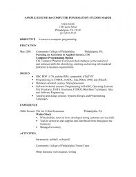 Server Resume Objective Stunning Server Resume Objective Contemporary Best Examples And 54