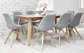 orson dining set 8 seats grey