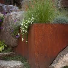 corten steel garden design