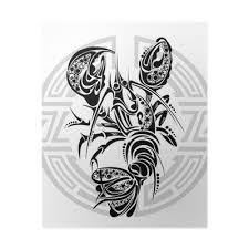 Plakát Znamení Raka Tetování Design Pixers žijeme Pro Změnu