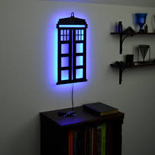 doctor who wall art magnificent lighted dr tardis tardis