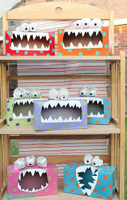 monster boxes; the boys would love these!