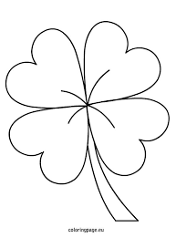 Small Picture Four Leaf Clover Coloring Pages GetColoringPagescom Coloring Home