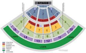 Pnc Music Pavilion Charlotte Nc Seating Chart View