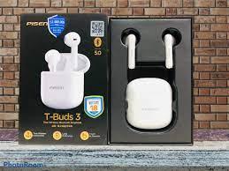 Tai nghe không dây PISEN True wireless T-buds3 ( T-Buds3) - Trắng _ Hàng  chính hãng - Tai nghe True Wireless Nhãn hiệu Pisen