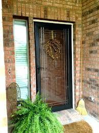 wooden storm doors with glass storm front doors stained wood front door behind painted storm door