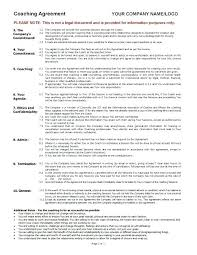 Employee Training Agreement Example New Unique Fresh Coaching ...
