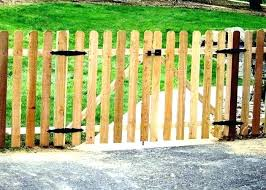 picket fence double gate. Exellent Picket How To Build A Picket Fence  Double Gate Slope Gates And Install Youtube  Throughout E