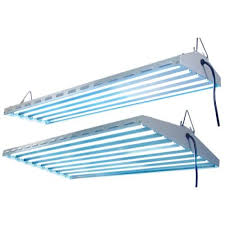 new wave t5 ho fluorescent light fixture 4 lamp 48 inch lot of