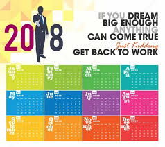 calendar that i can edit colorful 2018 calendar easy to edit vector cdr ai eps files
