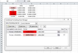 Conditional Formatting With Different Thresholds Per Test Per
