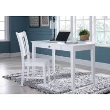White gray solid wood office Shaped International Concepts 48 In White Solid Wood Desk Amazoncom International Concepts 48 In White Solid Wood Deskof0741 The