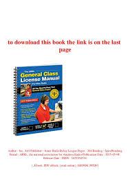 Arrl Handbook 2018 Read Pdf The Arrl General Class