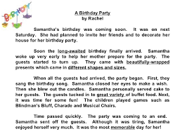 essay about my friend birthday party describe a birthday celebration that you attended recently testbig