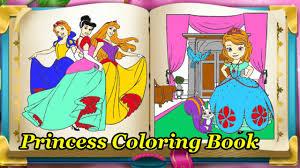 disney princess coloring book game for kids disney princess games you