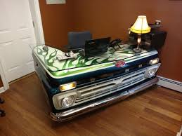 cool office desks.  Office Old Pickup Truck Gets Turned Into A Cool Office Desk Others Pertaining To  Decor 15 On Desks K