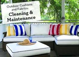 outdoor cushions and fabrics cleaning maintenance with pressure washer