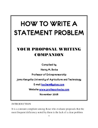 e business essay compare and contrast essay topics for high school  best proposal writing sample ideas proposal how to write a statement problem your proposal