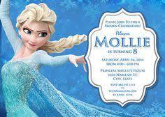 Elsa Frozen Birthday Party Invitation Ideas Wording Frozen