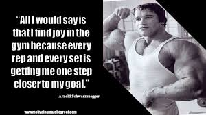 arnold scwarzeneger inspirational i will do quote