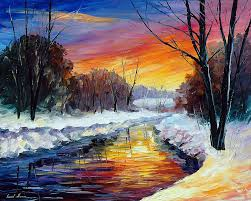 end of winter canvas art painting by leonid afremov s afremov canvas art paintingsoil