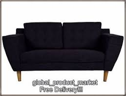 white vintage couch. Image Is Loading Grey-Fabric-Sofa-2-Seater-Vintage-Couch-Retro- White Vintage Couch B