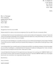 Resignation letter with immediate effect