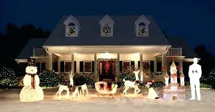 outdoor and sleigh decorations lighted reindeer large decoration