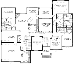 house plans and more. Southern House Plan First Floor - 055S-0124 | Plans And More I