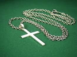 p315sc mens sterling silver 925 simple cross pendant chain necklace set charm