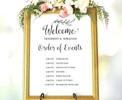 Wedding Order Of Events Template