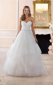 wedding dresses layered ball gown wedding dress stella york