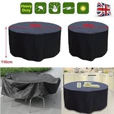 4 6 seater round waterproof outdoor garden bbq table furniture circular cover
