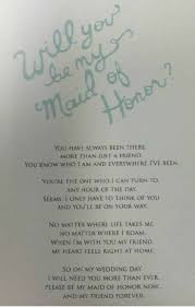 awesome way to ask your friend to be the maid of honor and how sweet i loved getting this one